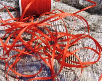 2mm red silk ribbon in 5 yard cuts