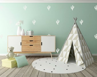 Cactus Vinyl Wall Stickers Nursery Decal Pattern