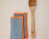 Set of two 100% cotton crochet dishcloth / washcloth