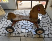Vintage Radio Flyer Wood and Metal Horse Ride Toy