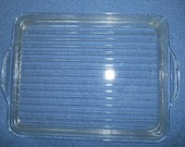Vintage Pyrex Clear Ribbed Rectangle Glass Lid Only 503-C