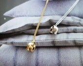 elephant gold necklace, elephant silver necklace, elephant necklace, dainty necklace, elephant charm necklace