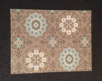 "Sheet of Vintage Wallpaper 8 1/2"" x 11"""