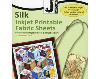 Silk Inkjet Fabric Sheets- pkg of 10