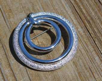 Coventry Silver Textured Brooch