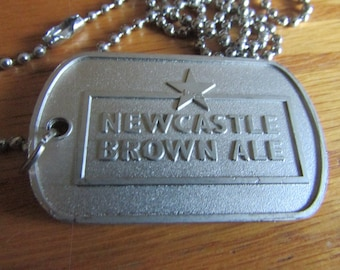 New castle brown ale tag