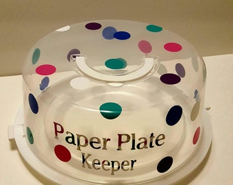 Paper plate keeper