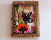 butterfly inspire journal tri fold waxed burlap journal