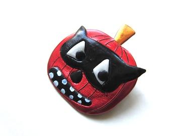 Jack-O-Lantern  Halloween pin Brooch
