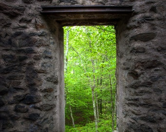 Spring within Cunningham Tower, Historical Ruins, Gothic Architecture, Abandoned Places,