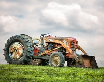Vintage Ford PowerMaster Tractor, Americana Photography, Cinematic, Nostalgia, Industrial, Color Photograph