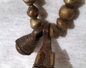 """Antique Brass Trade Beads From Africa - 24"""" Strand - FREE Shipping"""