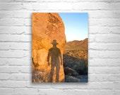 Cowboy Art, Self Portrait, Desert Photography, Murray Bolesta, Arizona, Tucson Mountain Park, Silhouette