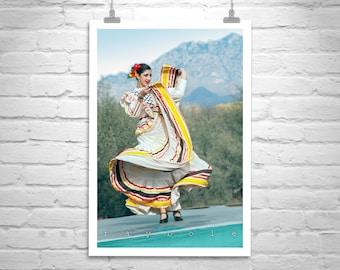 Hispanic Folklorico, Mexican Dancer, Folklorico Dancer, Mexican Fiesta, Tucson Arizona, Fine Art Photography, People Art, Vertical Art