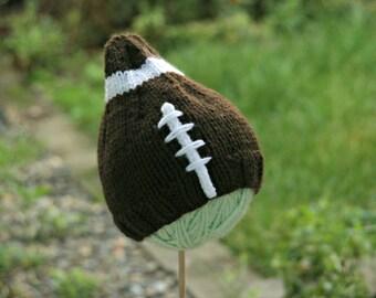 PATTERN Knit Newborn Wilson Hat PATTERN football hat