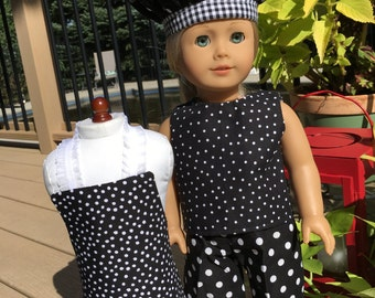 Black and White Chef 4-Piece 18-Inch Doll Set