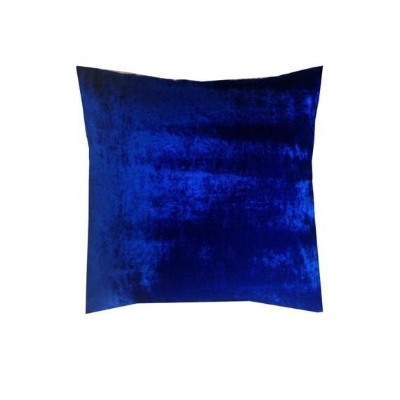 Blue Velvet Pillows Blue Decorative Pillows Velvet sofa