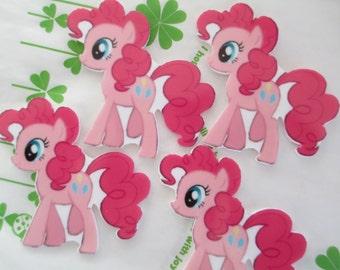 My little pony cabochons 4pcs Flat Pink 55mm x53mm New item