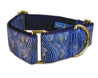 Martingale Collar - Fancy Dog Collar - Custom Collar for Dogs - Greyhound Collars - Blue Dog Collar - Limited Slip Collar for Dogs