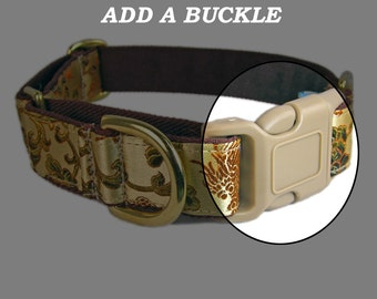 Add a quick release buckle to one of our martingale style dog collars