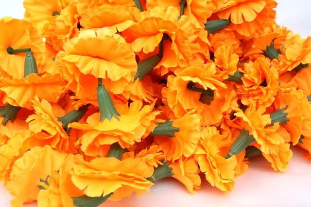 Flower GarlandMarigold Garland Indian Wedding Flowers Diwala Marigold 60 Pieces Of