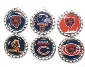 4 sets of football charms