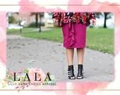 LillyAnnaKids Women's SAVANNAH Ruffled Knit Pencil Skirt