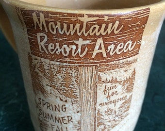 Handmade mug vintage vacation decal