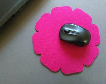 Felt Mouse Pad, Home and Travel, Modern, Felt/Floral.
