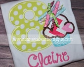 Korker Cupcake Birthday Shirt - Lime Aqua Pink Cupcake