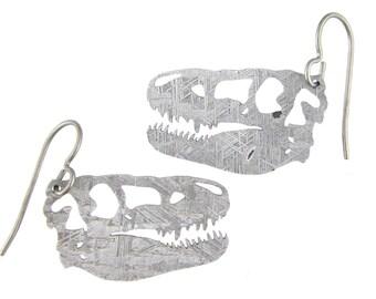 T-Rex Gibeon Meteorite Earrings