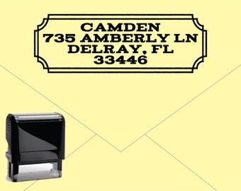 New for 2016 FREE US SHIPPING * Self Inking Return Address Stamp * Custom Address Rubber Stamp (E418)