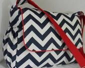 Custom Order for Neda Navy Chevron Diaper Bag