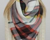 Blanket Scarf Oversized Plaid Tartan Shawl Shoulder Wrap Winter Scarf Sale