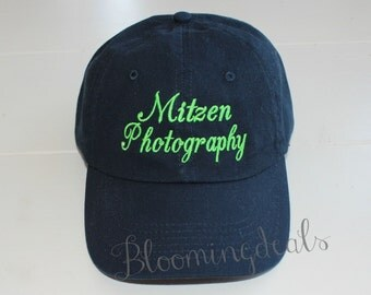 Personalized Baseball Caps, Navy Blue Hats, Custom Embroidery Monogrammed Caps