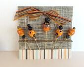 Scrapbook Stick Pins in Fall Colors