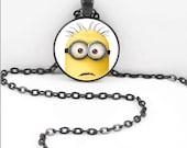 Minion Necklace, Minions Pendant, Minion Minions Jewelry MIN05