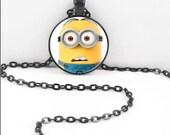 Minion Necklace, Minions Pendant, Minion Minions Jewelry MIN09