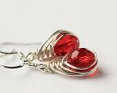 Handmade Herringbone Weave LoveKnot Earrings