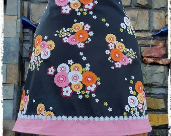 BLACK and Pink Garden A-Line