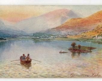 1910s vintage postcard - Picturesque Grasmere Lake Tuck Oilette Postcard 8531, F.W.Hayes vintage postcard, SharonFosterVintage