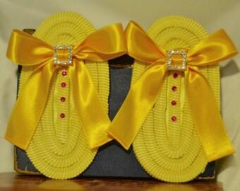 Marie Antoinette Ruffle Shoe Clips