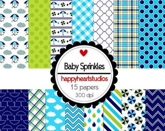 Digital Scrapbook  BabySprinkles-INSTANT DOWNLOAD