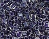 20 Grams Japanese Miyuki Cube Bead - Amethyst Lined Luster - 4mm (SB04-223)