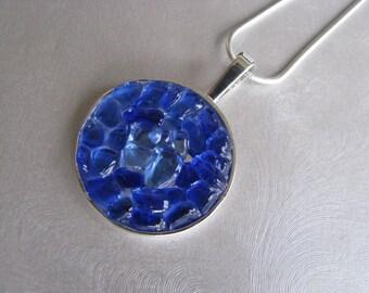 Cobalt and Cornflower Sea Glass Jewelry - Sea Glass Necklace - Unique jewelry - Beach Glass Jewelry