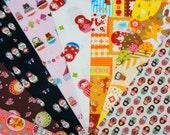 Value set fabric scrap  total of 8 pieces Matryoshka  Bx3