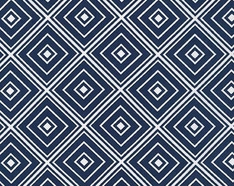 Three (3) Yards- Metro Living Diamond Robert Kaufman Fabrics SRK-15082-9 Navy