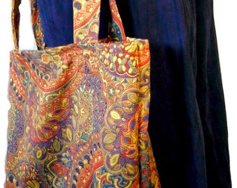 Grocery Tote Bag, Large Market Bag, Tapestry Tote Bag, Book Bag, Reusable Shopping Bag, Handmade Bag, Shopping Bag