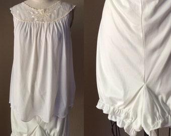 BabyDoll Pin Up nighty, Slumber Party Shorts Set, 50's sleepwear, Mad Men