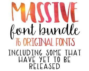 MASSIVE Font Bundle - A Designers Toybox!